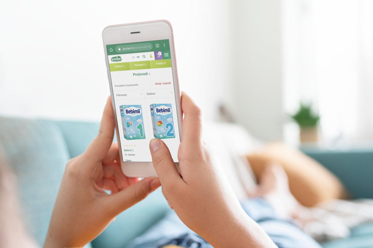 Bebimil proizvodi dostupni su online